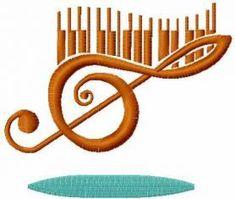 treble clef free machine embroidery design 1. Machine embroidery design. www.embroideres.com