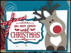 Rudolf the Reindeer Gift Card Holder - video tutorial available at www.SimplySimpleStamping.com - look for the November 12, 2015 blog post