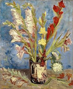 Vincent van Gogh (Dutch, 1853-1890) - Vase with Gladioli and China Asters, 1886