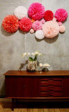 Image result for wall decoration pom pom