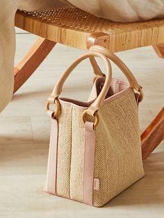 SANDY DOUBLE BAG (3COLOR) Fashion Handbags, Purses And Handbags, Fashion Bags, Bag Packaging, Clear Bags, Fabric Bags, Cute Bags, Knitted Bags, Mini Bag