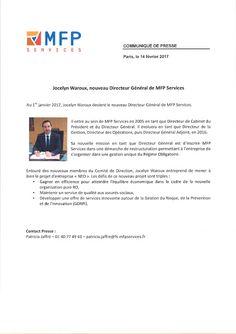 MINE D'INFOS: Jocelyn Waroux nommé Directeur général de MFP Serv...