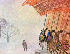 "Ati Forberg, illustration for ""The Magic Carousel"""