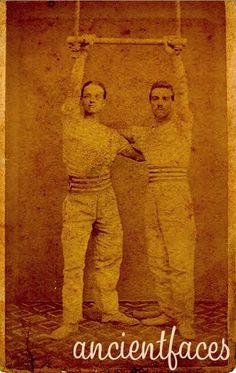 Checkout this photo of acrobats taken in Paris France 1873