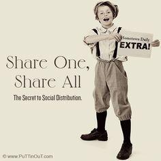 Share One, Share All: The Secret to Social Distribution Social Media Software, Social Media Marketing, Digital Marketing, Insight, The Secret