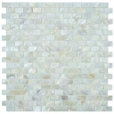 Conchella Subway White 12-1/4 in. x 12-1/2 in. x 3 mm Natural Seashell Mosaic Wall Tile