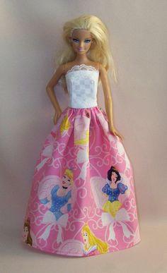 Handmade Barbie Clothes Pink Disney Princess by PersnicketyGrandma, $7.00
