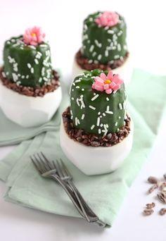 Mini Potted Cactus Cakes Recipe