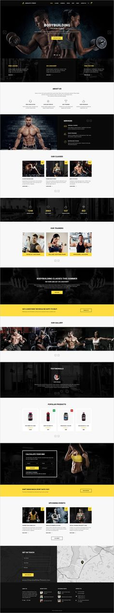 Absolute Fitness is a modern and functional #PSD #Template for sports #clubs in different directions: Fitness, #GYM, Bodybuilding, Boxing, Dancing, Yoga, Personal Trainer website with 13 unique homepage layouts and 46 organized PSD pages download now➩ https://themeforest.net/item/absolute-fitness-psd-template/18599187?ref=Datasata
