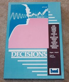 Vintage Decisions Stock Market Board Game By BMI Brighter Minds Vermont 1986 #BMI