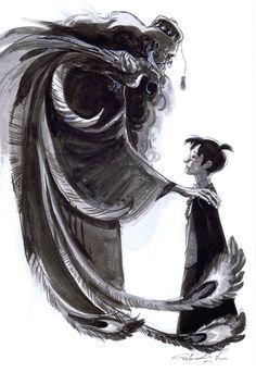 Dumbledore and Harry Potter Art