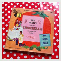 Cenderella Book and Record 33 1/3 RPM by Papeteriedeparis on Etsy, $8.00