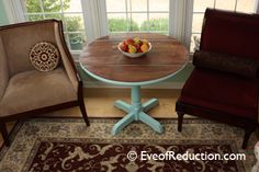 Drop-Leaf Table Makeover - from trash to treasure -Eve of Reduction