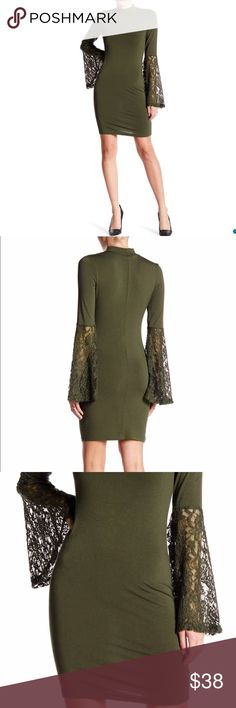 Romeo & Juliet Couture - Lace Sleeve Dress Olive M NWT Romeo & Juliet Couture - Lace Sleeve Dress Color: Olive, Size: M Romeo & Juliet Couture Dresses