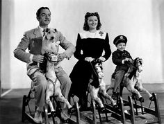 William Powell, Myrna Loy, Richard Hall, and Asta in Shadow of the Thin Man, 1941