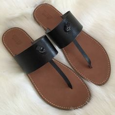 Black Thongs Worn once, in like new condition. Posh rules only, no trades. Price discussed using offer button. I ship same day or next. Mossimo Supply Co Shoes Sandals