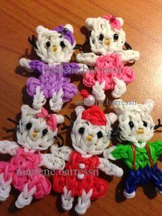 Hello Kitty Gang - Rainbow Loom (marlene.barressii)