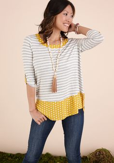 Matilda Jane for Women.  Such a cute patterned top!