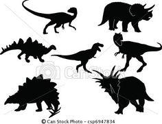 ベクター - 恐竜, シルエット, コレクション - ストックイラスト、ロイヤリティーフリーイラスト、ストッククリップアートアイコン、ロゴ、ラインアート、EPS画像、画像、グラフィック、ベクター画像、アートワーク、EPSベクターアート