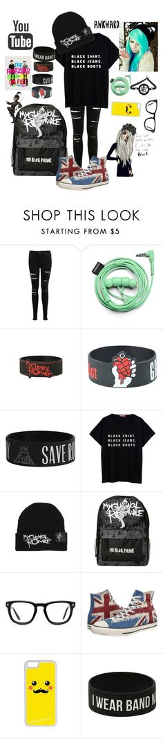 """""""I don't know what to call this XD"""" by kitkat0305 ❤ liked on Polyvore featuring Miss Selfridge, Urbanears, Muse, Converse and CellPowerCases"""