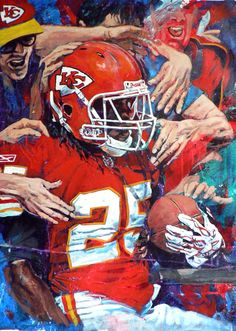 Jamaal Charles Kansas City Chiefs by Robert Hurst