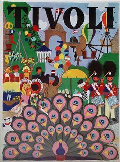 1960s Tivoli Gardens by Gunvor Ask Original by OutofCopenhagen