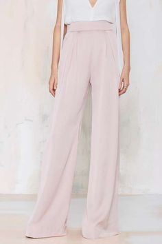 Nasty Gal Wet 'n Wide Palazzo Pant - Clothes