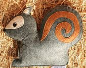 Forest Critters- Grey Squirrel with Acorn- Eco Friendly- Woodland Gardening Animal