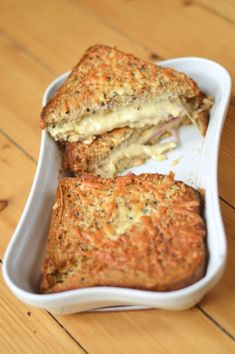 Baked Croque monsieur - whether you're looking for a lazy brunch option or something a little different when someone's coming over for lunch, make a baked croque monsieur and everyone's day will be better for the cheesy goodness that comes from this gorgeous version of cheese on toast.