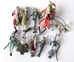 Nightmare-before-Christmas-Mobile-Phone-pendant-charms-straps-figures-10pc-Lot