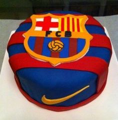 Messi Birthday, Soccer Birthday Cakes, Football Birthday, Soccer Cakes, Barcelona Soccer Party, Barcelona Cake, Pastel Del Barcelona, Lionel Messi, Fc Barcalona