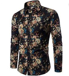 RDHOPE-Men Printing Hawaii Bechwear Summer Classic-Fit Western Shirt