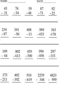 Printable Math Worksheets - Printable Math Worksheets, Free Math Worksheets Printable & organized by Grade 8th Grade Math Worksheets, Free Printable Math Worksheets, Writing Worksheets, Worksheets For Kids, Free Printables, Date, Math Sheets, School Resources, Quizzes