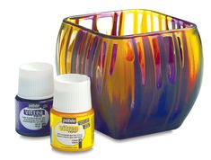 Pebeo Vitrea 160 - BLICK art materials- You can make vases, jars anything glass beautiful. I love this idea, got to get this!!!