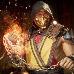 Scorpion from Mortal Kombat art Mortal Kombat Games, Mortal Kombat Art, Skorpion Mortal Kombat, Mortal Kombat Scorpion, Mortal Kombat X Wallpapers, Claude Van Damme, Gaara, Game Character, Character Design
