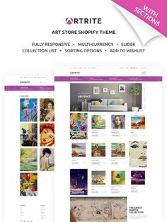 Pieces of art need an exceptionally beautiful surrounding. A painting online store has to highlight pictures and doesn't distract visitors from observing art. Artrite Shopify template is created accurately to sell art and has all the necessary functionality.  #art #shopify #ecommerce #paintings https://www.templatemonster.com/shopify-themes/artrite-marvellous-art-paintings-online-store-shopify-theme-67864.html