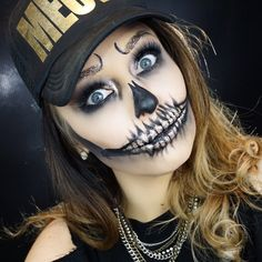 Glam Gold Skull Halloween Makeup by Erica Gamby | tutorial on YouTube