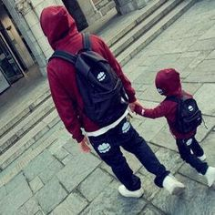 daddy and son