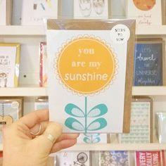Valentines cards in by @whatdaisysays! #youaremysunshine #sunflower #justacard #valentinescard #lovenotts #itsinnottingham #shopnotts