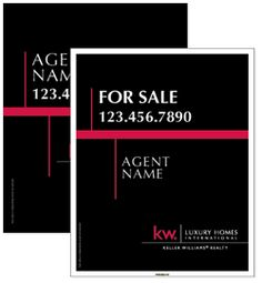 Luxury Homes Signs - KELLER WILLIAMS Real Estate Signs
