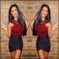 Jilah amini fashion: black  skirts
