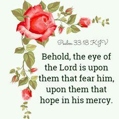 Psalm 33:18 KJV
