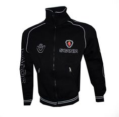 Scania V8 fleece polar Jacket - embroidered logos / Coat Veste Parka / R730  S730