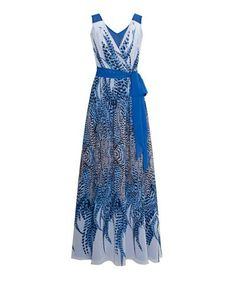 Elfe Feather Print Dress Made In Europe