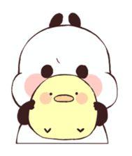 Big Panda, Panda Love, Cute Panda, Panda Bear, Panda Kawaii, Panda Funny, Line Sticker, Cute Stickers, Easy Drawings
