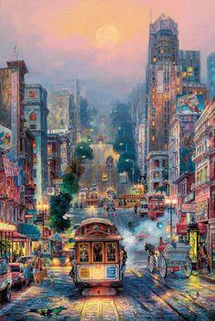 Zhui star diamond embroidery street cityscape diy diamond painting Cross Stitch full square Rhinestone mosaic home decoration City Art, Beautiful Paintings, Beautiful Landscapes, Art Watercolor, City Painting, Scenery Wallpaper, Anime Scenery, Belle Photo, Landscape Art