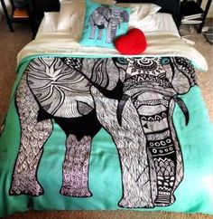 turquoise elephant print quilt - turquoise elephant bookends, turquoise elephant bedding