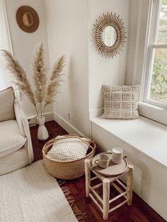Territory Nube Lumbar Pillow - Cream on Garmentory Decor Home Living Room, Boho Living Room, Interior Design Living Room, Home And Living, Living Room Designs, Neutral Living Rooms, Living Room Nook, Neutral Bedroom Decor, Cute Living Room