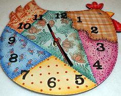 Relógio Galinha Country
