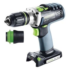With the pdc Festool set out to create the ultimate drilling machine. A four-speed gearbox provides loads of torque for hogging out material with large diam Festool Systainer, Festool Tools, Cordless Impact Drill, Cordless Drill Reviews, Cordless Hammer Drill, Miter Saw Reviews, Circular Saw Reviews, Hammer Tool, Bit Set